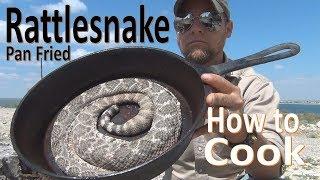 Pan Frying Rattlesnake