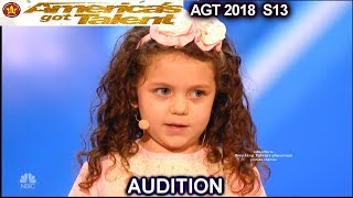 """Sophie Fatu 5 years old Sings """"My Way"""" Simon Wants Her To Date His Son America's Got Talent 2018"""