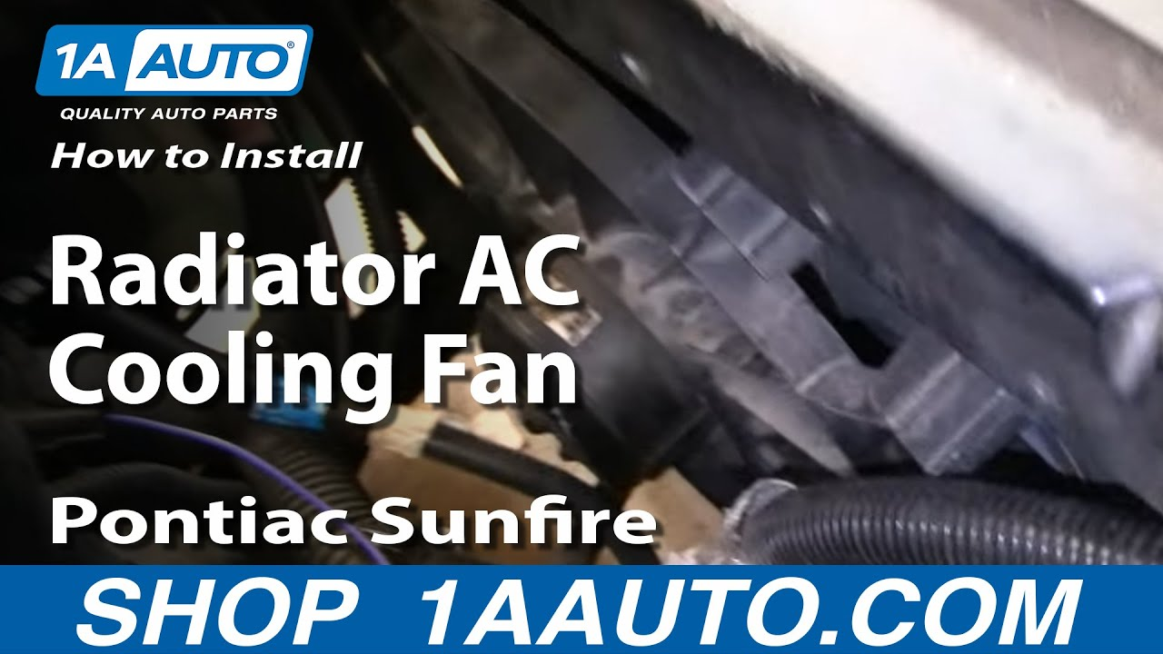 how to install replace radiator ac cooling fan chevy. Black Bedroom Furniture Sets. Home Design Ideas