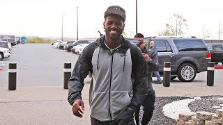 Antonio Brown arrives for his first day of offseason workouts | Raiders