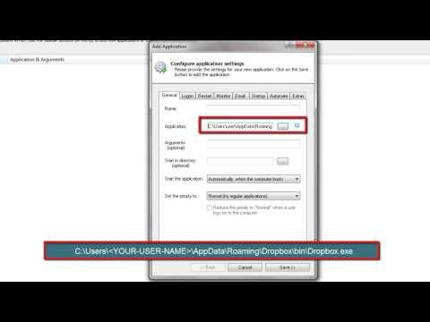 How to Run Dropbox as a Windows Service (10/2016/8/2012/7/2008/Vista