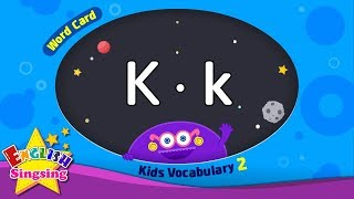 "Kids vocabulary compilation ver.2 - Words Cards starting with K, k - Repeat after ""Ting (sound)"""