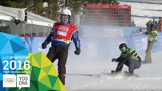 Snowboard Cross - Jake Vedder (USA) wins Men's gold | Lillehammer 2016 Youth Olympic Games