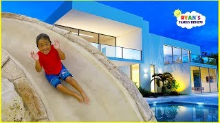 Ryan's New House and New Swimming Pool Tour!!!