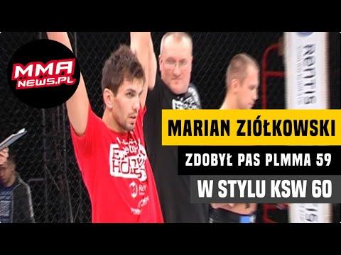 Retrospekcja: Marian Ziółkowski obronił pas na KSW 60 w stylu PLMMA 59