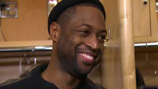 Dwyane Wade gets interrupted by LeBron James yelling about Ohio State football   ESPN