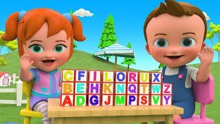 Learning Alphabets ABC Blocks Wooden Toy Set 3D Kids Educational Little Baby & Girl ABC Toys Edu