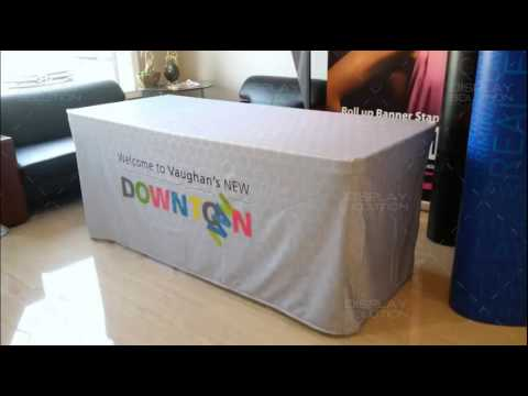4 Sided Fitted Custom Full Color Table Cover