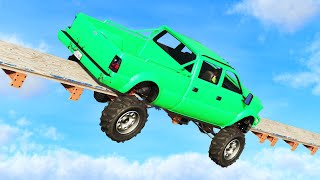 IMPOSSIBLE TRUCK TIGHTROPE! (GTA 5 Funny Moments)