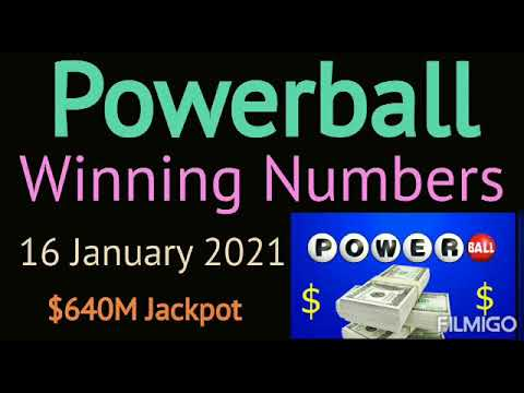 Today Powerball Winning Numbers Saturday 16 January 2021. Powerball Drawing Tonight 1/16/2021