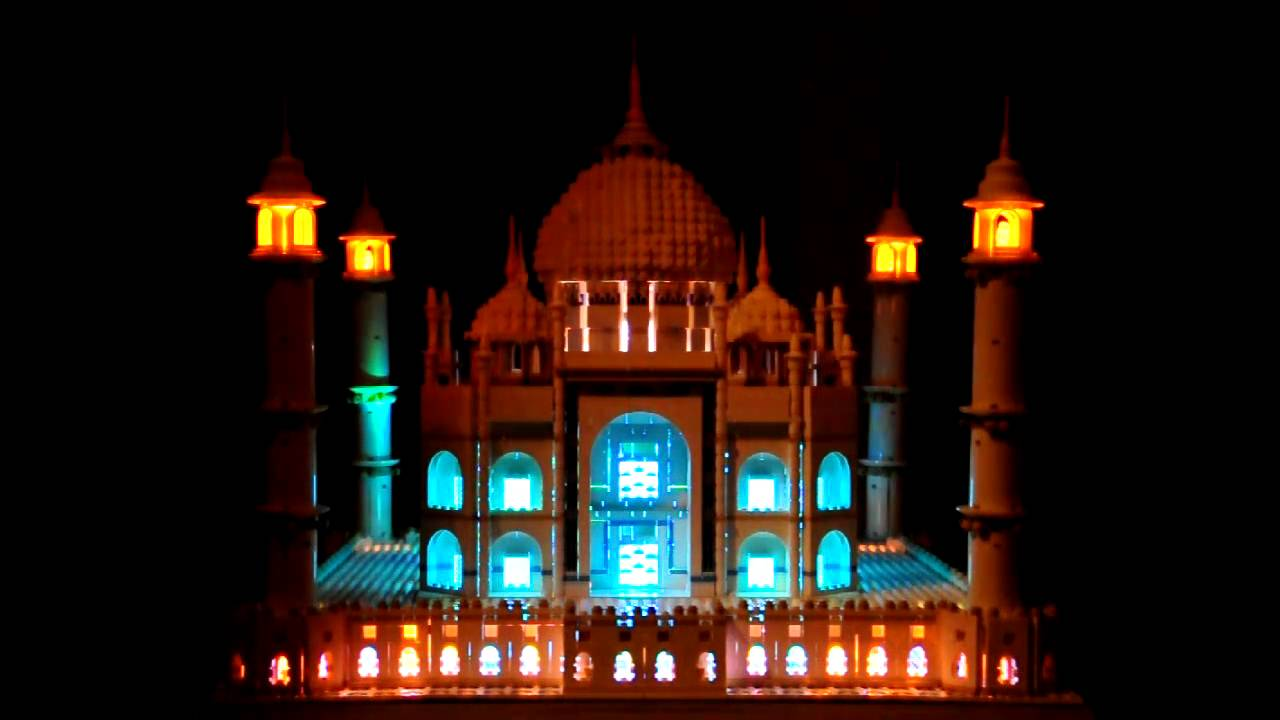 Lego 10189 Taj Mahal Lighting Setup Youtube