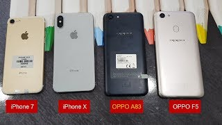 Mở hộp trên tay OPPO A83 so sánh với iPhone X | Giá hơn 4 triệu OPPO A83 tại Minh Hoàng Mobile