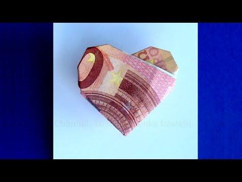 geldscheine falten herz geldgeschenke zur hochzeit basteln geld falten. Black Bedroom Furniture Sets. Home Design Ideas