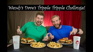 WENDY'S DAVE'S TRIPLE TRIPLE CHALLENGE!