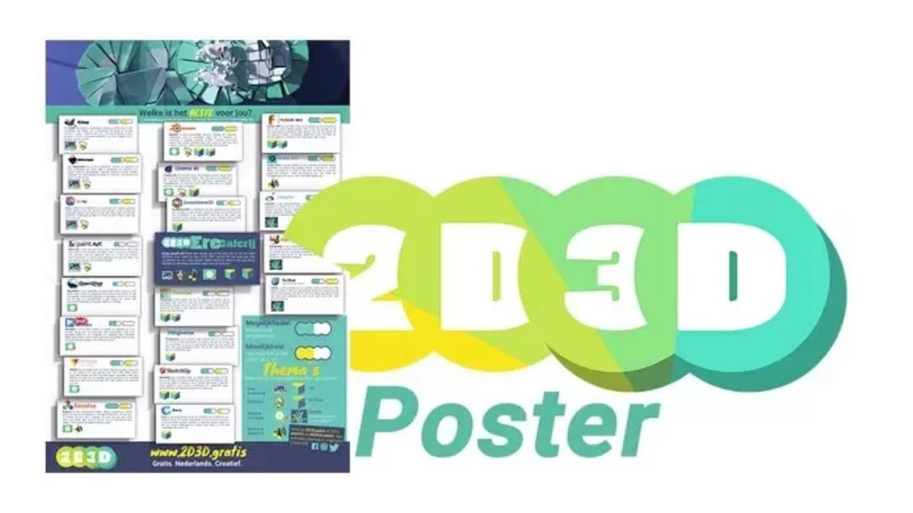 Alle goede gratis software op één poster, gratis voor jou op A2!