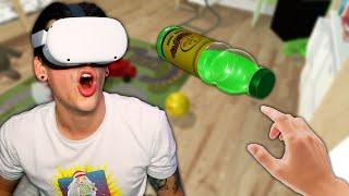 EPIC VR BOTTLE FLIPPING! (Bottle Flip Challenge VR)