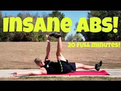 20 min insane abs workout  extreme home core exercises