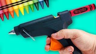 Colorful Crayon Ideas And Hacks   Easy Craft Ideas   DIY Crayon Crafts   Craft Factory