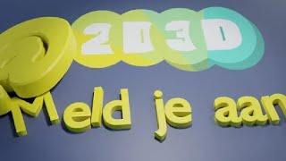 2D3D Nieuwsbrief! Meld je aan!