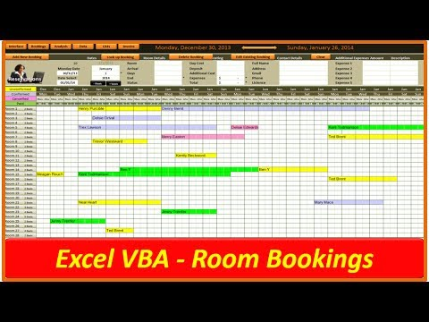Hotel And Room Bookings Vba Excel Youtube