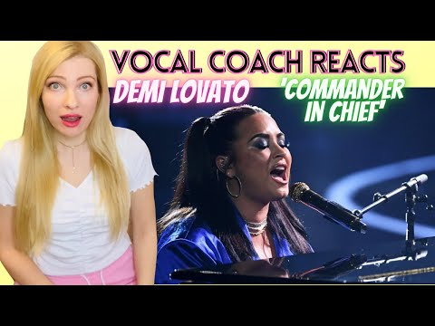 Vocal Coach/Musician Reacts: DEMI LOVATO 'Commander In Chief' Live! In Depth Analysis