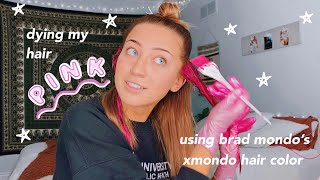 dying my hair pink using brad mondo's new hair color