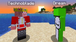 Technoblade and Dream's first encounter on the Dream SMP