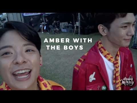 Amber interactions with male idols (part 2)