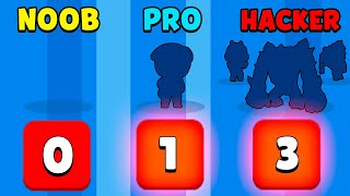 NOOB vs PRO vs HACKER - Brawl Stars