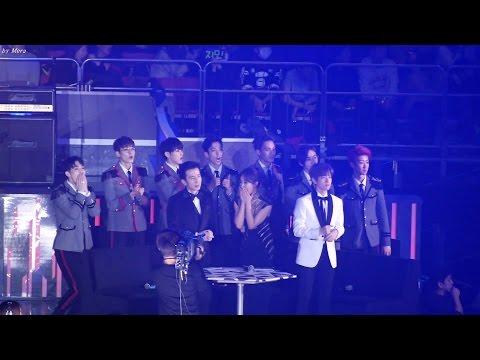 161226 세븐틴 (SEVENTEEN),MC(백현,유리) T.O.P-엄정화- DISCO 무대관람 Reaction [전체] 직캠 Fancam (2016 가요대전) by Mera