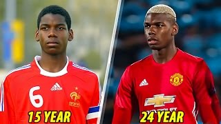 Paul Pogba - Transformation From 1 To 24 Years Old