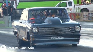 Street Outlaw Daddy Daves NEW Twin Turbo setup Shakedowns!!