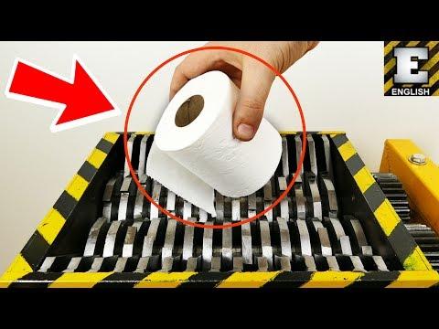 ¿Cómo lucen un papel de baño y otros artículos cuando son triturados?