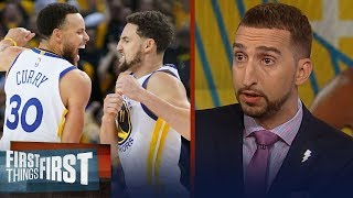 Warriors defeat Rockets in GM 5 despite KD's injury - Nick & Cris react | NBA | FIRST THINGS FIRST