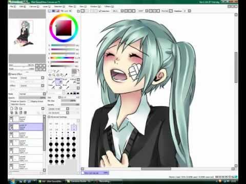 Rolling Girl - Hatsune Miku (Vocaloid) - Speed Paint - Paint Tool SAI - By: Kazuyo