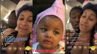 Cardi B & Offset LIVE Planning Kulture's Birthday Party & Talking Her Feet