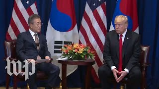 Trump participates in meeting with South Korea's president