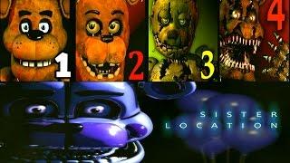Five Nights at Freddy's: Sister Location FNAF 1 2 3 4 Jumpscares Simulator | FNAF: Sister | IULITM