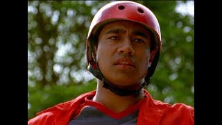 "Power Rangers Ninja Storm - Shane Lands 540 Skateboard Trick | Episode 24 ""Tongue and Cheek"""