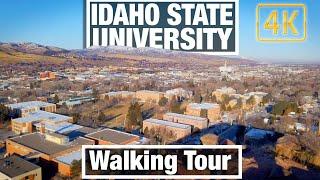 4K City Walks - Idaho State University Pocatello - Virtual Treadmill Scenery Walk and Travel