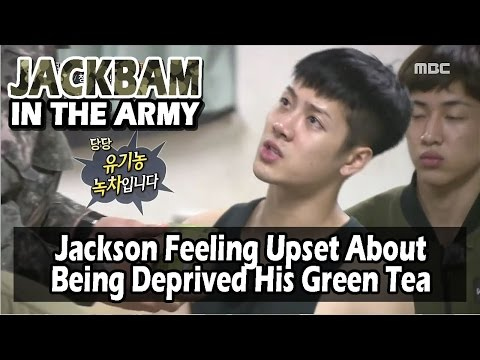 [Real men] 진짜 사나이 - Jackson's Distressed About Not Able To Keep His Green Tea 20160522