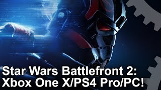 Star Wars Battlefront 2 - Xbox One X vs PS4 Pro vs PC Graphics Comparison