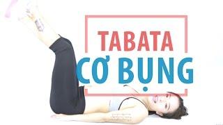 Bài tập TABATA cho cơ bụng | Hana Giang Anh