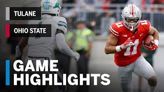 Highlights: Tulane Green Wave at Ohio State Buckeyes | Big Ten Football