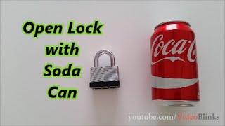 Izgubili ste ključ od katanca? Evo kako da ga otvorite pomoću limenke kole! (VIDEO)