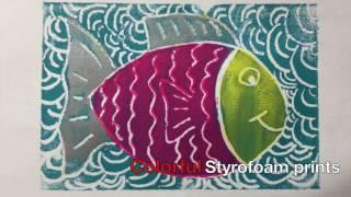 Colorful Styrofoam Block Prints