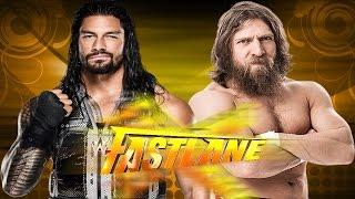 WWE Fastlane 2015 - Roman Reigns vs Daniel Bryan - WWE 2K15