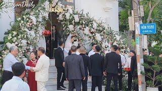 Đám cưới Bảo Thy : TOÀN CẢNH RƯỚC DÂU VỚI ĐÀN XE HƠI CỰC SANG CHẢNH