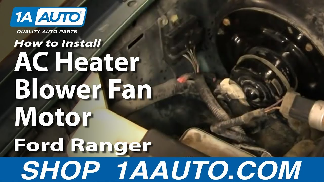 How To Install Replace Ac Heater Blower Fan Motor Ford