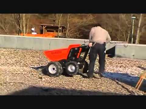 Muck Truck powered wheelbarrow vs manual wheelbarrow